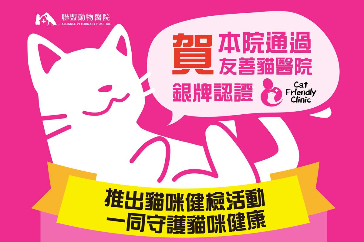 賀!!!聯盟動物醫院通過友善貓醫院銀牌認證