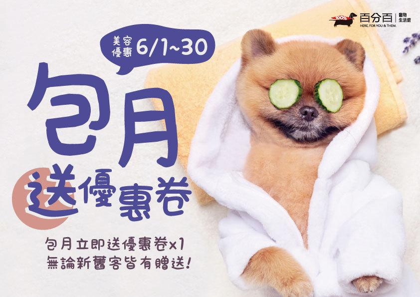【6月美容活動】包月就送優惠券!