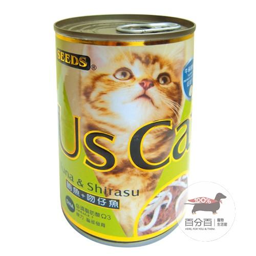Us Cat愛貓餐罐-鮪魚+吻仔魚400g