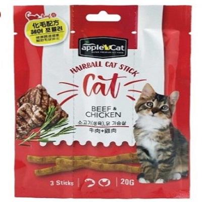 appleCat貓咪化毛點心棒20g( 牛肉+雞肉)