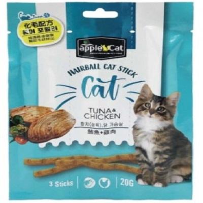 appleCat貓咪化毛點心棒20g( 鮪魚+雞肉)
