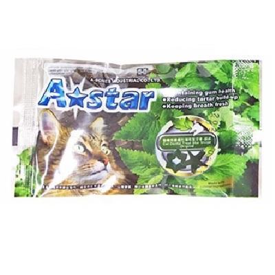 A★star 貓專用星星形薄荷潔牙骨單包-原味15g