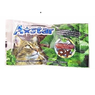 A★star 貓專用星星形薄荷潔牙骨單包-鮪魚味15g