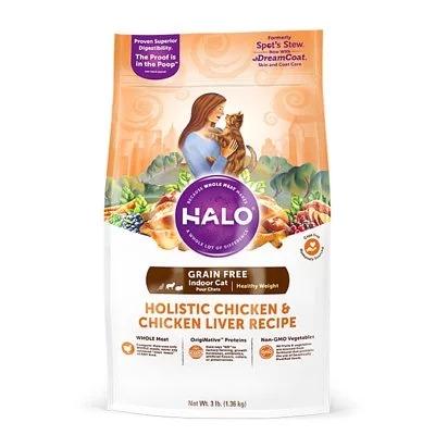 HALO 新鮮雞肉燉豌豆+鷹嘴豆成貓燉食3磅(無穀低脂)