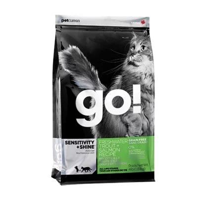 GO!抗敏+亮毛 80%淡水鱒魚無穀貓糧4磅