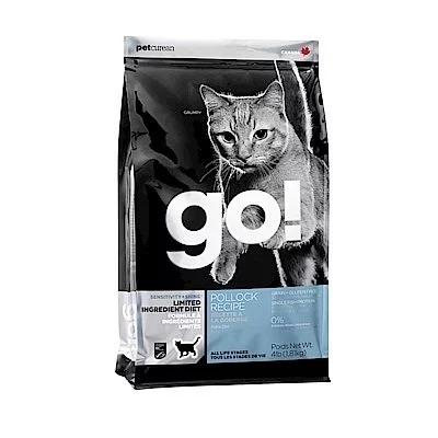 GO!抗敏+亮毛 低致敏鱈魚無穀貓糧4磅