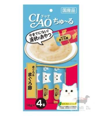 CIAO啾嚕肉泥-(鮪魚+柴魚片) 片14g*4入