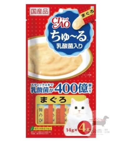CIAO啾嚕肉泥乳酸菌-(鮪魚味)14g*4入