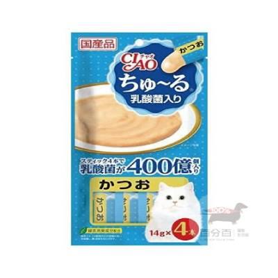 CIAO啾嚕肉泥乳酸菌-(鰹魚味)14g*4入