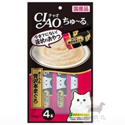 CIAO啾嚕肉泥-奢華鮪魚片14g*4入