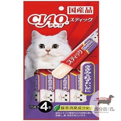 CIAO寒天肉泥-雞肉+松葉蟹14g*4入