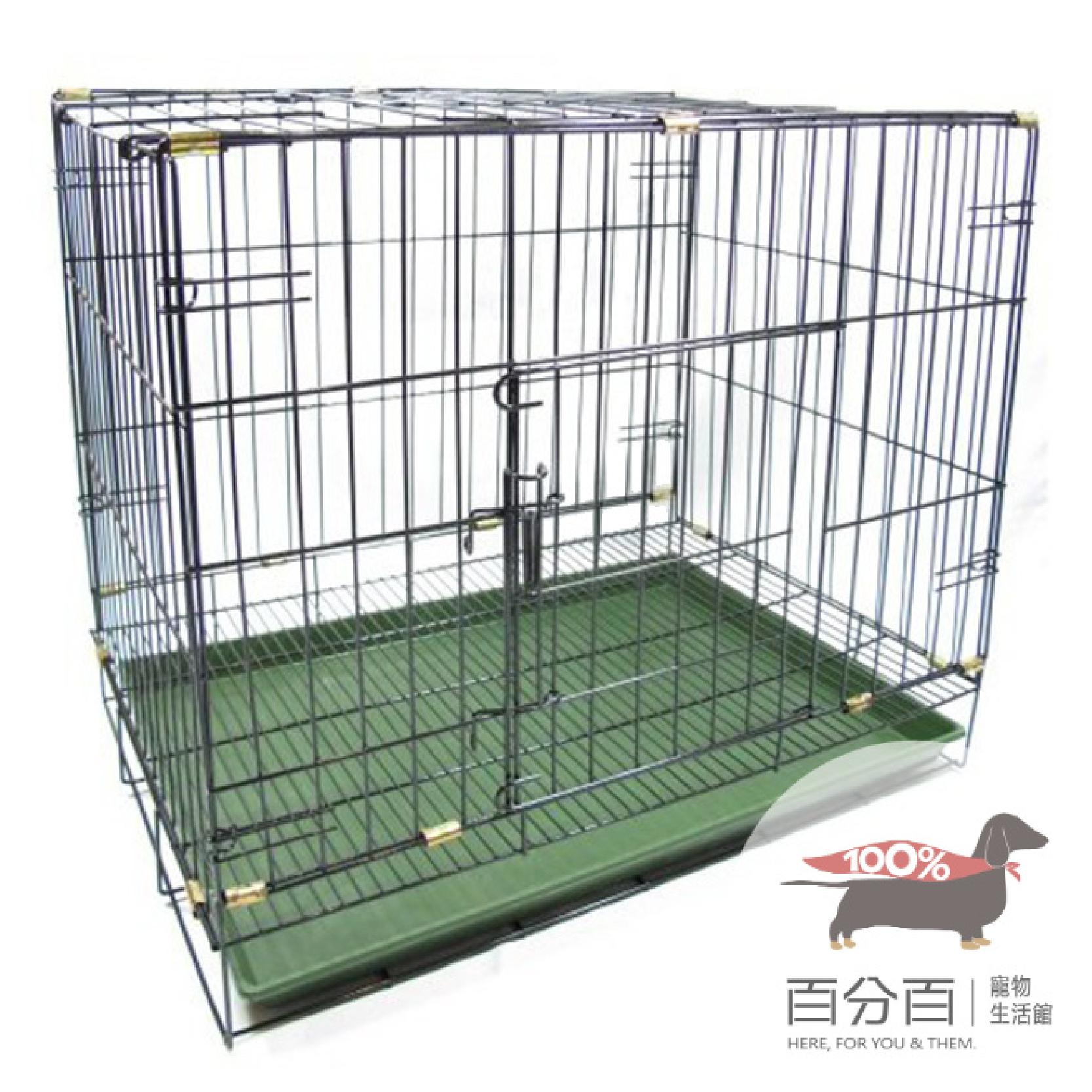 2尺靜電狗籠-黑(雙門.密底)