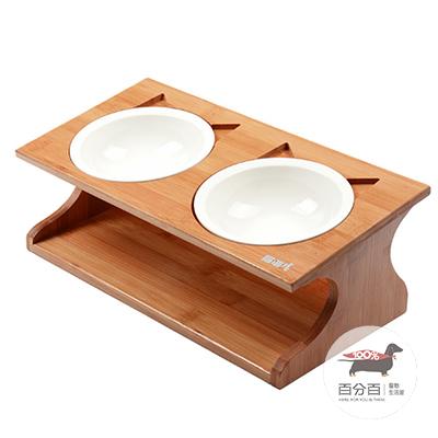 簡約竹木雙碗