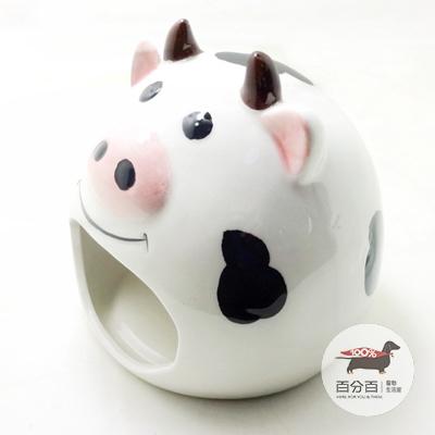 倉鼠陶瓷睡窩-奶牛*