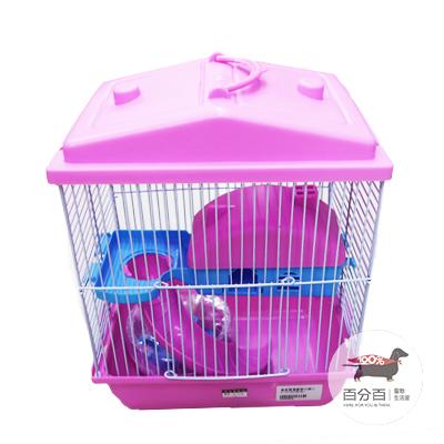 倉鼠雙層豪華別墅(24*14*29) (粉色)*