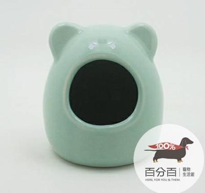 倉鼠陶瓷睡窩-藍色*