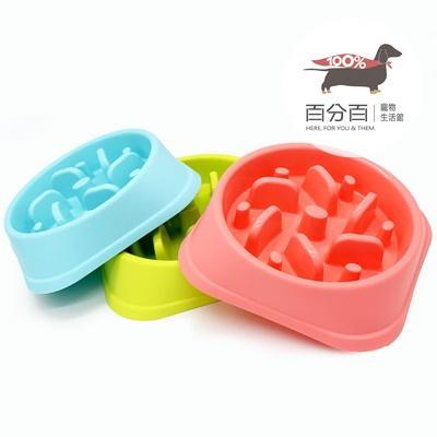 防噎健康慢食碗-藍