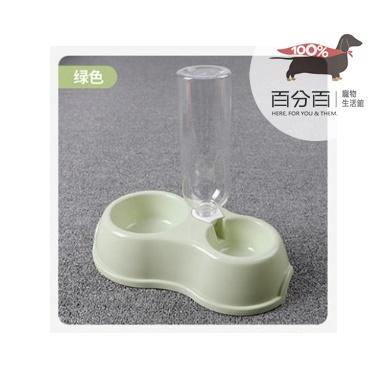 兩用飲水餵食碗-綠色