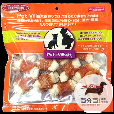 PetVillage牛奶牛皮雞肉小骨結200g