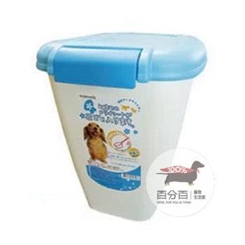 阿曼特飼料桶10kg裝-粉藍