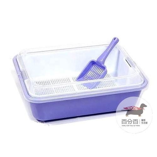670A水晶貓便盆-紫