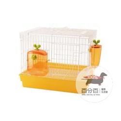 開心農場兔籠/橘/綠(附飲水器飼料盒)