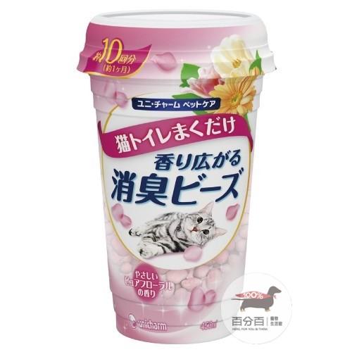 Unicharm Pet貓盆消臭粒 純淨花香450ml