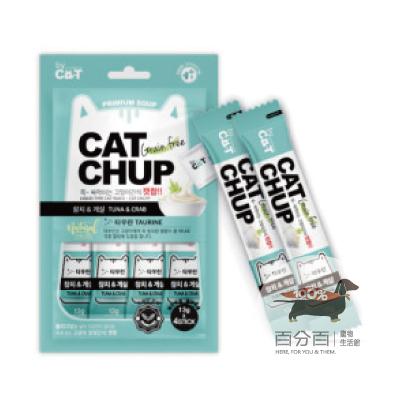 韓國CatChup貓咪肉泥-鮪魚&蟹肉13g*4包