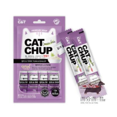 韓國CatChup貓咪肉泥-鮪魚&干貝13g*4包