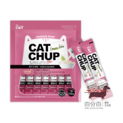 韓國CatChup貓咪肉泥-鮪魚&鮭魚13g*7包
