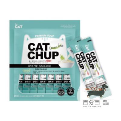 韓國CatChup貓咪肉泥-鮪魚&蟹肉13g*7包