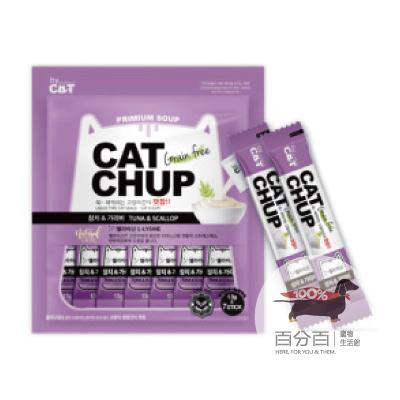 韓國CatChup貓咪肉泥-鮪魚&干貝13g*7包