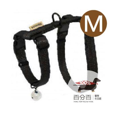 TN-貓胸背帶(M)黑色